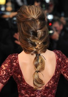 British singer Cheryl posed in a slinky red dress and showed off a fantastic, high volume hairstyle on the red carpet. #hair #tutorial