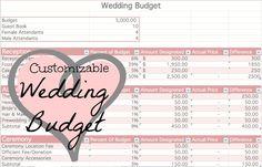 Customizable Wedding Budget based on your set budget! So easy to use and amazing! Wedding Budget Worksheet, Budgeting Worksheets, Lesbian Wedding, Dream Wedding, Wedding Stuff, Wedding Gallery, Budget Wedding, Money Saving Tips, Wedding Inspiration