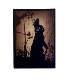 Original Rabbit Linocut Print by LucieFrancis on Etsy, £45.00