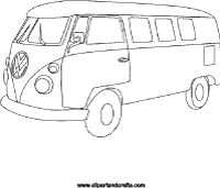 Vw Coloring Page Minivan Bus Picture To Color