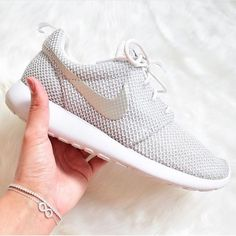 ISO White Platinum Roshe Run Looking for these exact roshes in size 5.5 or 6. Preferably NEW. Nike Shoes