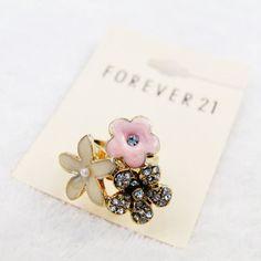 Европейские и американские ювелирные украшения оптом: Европа циркон / бриллиант цветок полон алмаз моды золотой F21 относится С1-843-Taobao