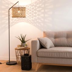 Black Metal and Natural Fibre Floor Lamp Maisons du Monde is part of Floor lamps living room - Silver Floor Lamp, White Floor Lamp, Arch Floor Lamp, Diy Floor Lamp, Modern White Living Room, Elegant Living Room, Decorative Floor Lamps, Modern Floor Lamps, Best Floor Lamps
