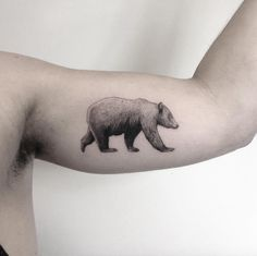 Perfect bear tattoo by Marabou