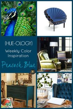 Color Inspiration in Peacock Blue   {Home-ology} modern vintage