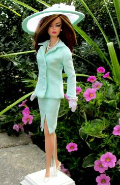 One of my fashions on a client's doll. I love this pic!