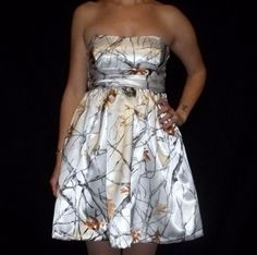 bridesmaids dresses if white camo wedding dress is picked. wedding-ideas