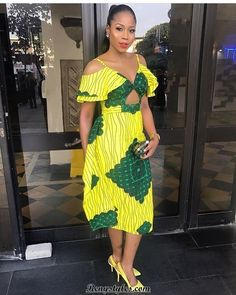 African Print Dresses and Short Aso Ebi Styles - Reny styles Best African Dresses, African Print Dresses, African Print Fashion, Africa Fashion, African Wear, African Fashion Dresses, African Women, African Style, African Outfits