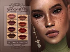 39 Colour options Found in TSR Category 'Sims 4 Female Lipstick'