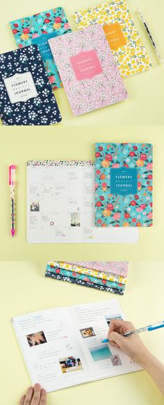 The 2017 Flowery Monthly Journal Planner covers 13 months and shows off beautiful flower patterns on every months!