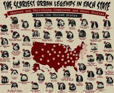 The scariest urban legends from each US state