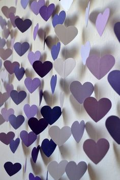 DIY Heart Mobile Kit - Lilac Dreams Wall Hanging / Baby Shower / Wedding Decor / Baby Mobile / Birthday Gift / Party Decor / Photo Prop on Etsy, Lilac Wedding, Diy Wedding, Dream Wedding, Wedding Day, Decor Wedding, Trendy Wedding, Unique Weddings, Wedding Reception, Purple Wall Decor