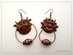 Labyrinth Knocker earrings - by ~buzhandmade on DA