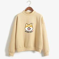 Women Harajuku Hoodies Fleece Autumn Kawaii Cute Japanese Anime Shiba Innu Pullover Kpop Sweatshirt Moletom Sudadera Mujer Color blue Size M Pull Kawaii, Mode Kawaii, Shiba Inu, Hoodie Sweatshirts, Printed Sweatshirts, Men's Hoodies, Sweatshirts Online, Sweatshirt Outfit, Sweat Shirt