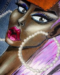 Pearls details on denim Denim art Fashion denim Street style 2017