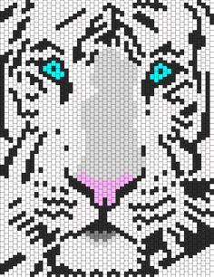 White Tiger great site: Kandi patterns.com