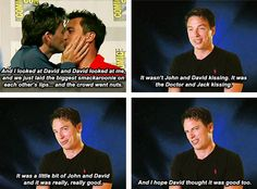 I love John Barrowman. LMAO!!! He is so much like Jack Harkness it's not even funny! Well, actually, it's hilarious, but that's beside the point. LOL!