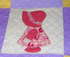 """Dutch Girl"" quilt, I was not able to 'pin' the picture of mine that my Grandma sewed for me, but it is a great idea for a quilt. Will be attempting to make someday soon."