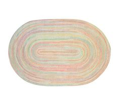 Kids' Rugs: Kids Pastel Oval Braided Area Rug, $299 for 5x8