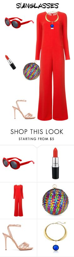 """""""outfit 6179"""" by natalyag ❤ liked on Polyvore featuring MAC Cosmetics, STELLA McCARTNEY, Skinnydip, Charlotte Olympia and Trina Turk"""