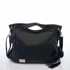 e2e246dbb96e5 The Nova Harley Boho changing bag in a classic Black from LollipopLane.co.uk