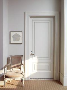 sunlit, white room, classic details