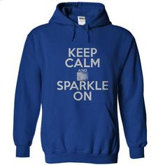 Keep Calm And Sparkle On - #softball shirt #brown sweater. GET YOURS => https://www.sunfrog.com/Funny/Keep-Calm-And-Sparkle-On-RoyalBlue-30735787-Hoodie.html?68278