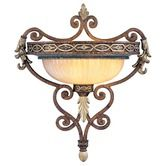 Found it at Wayfair - Seville  Wall Sconce in Palacial Bronze with Gilded Accents