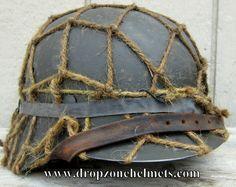 Dropzone Helmet Restorations Co. Army Helmet, German Helmet, Helmet Liner, Paratrooper, Armies, War Machine, World War Two, Wwii, Weapons