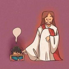 Jesus Is Life, Jesus Loves You, God Jesus, Jesus Wallpaper, Christian Comics, Christian Art, Jesus Artwork, Jesus Cartoon, Image Jesus