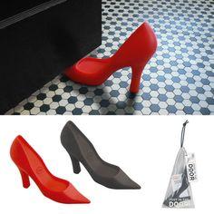 Foot in the Door Stiletto doorstop. I have this in black - too cute!