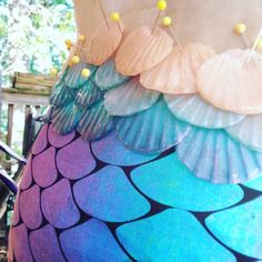 Fabric tail with a silicone scales and blended waist. Diy Mermaid Tail, Silicone Mermaid Tails, Mermaid Lagoon, Mermaid Tale, Mermaid Baby Showers, Baby Mermaid, Diy Halloween Costumes, Halloween 2018, Dragon Skin