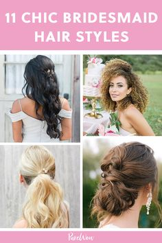 11 Seriously Chic Bridesmaid Hair Ideas for Your Non-Basic Wedding Party French Braid Ponytail, Half Ponytail, Braided Updo, Braided Hairstyles, Wedding Braids, Hair Wedding, Bridal Hair, Wedding Beauty, Wedding Stuff