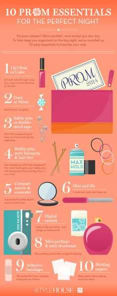 10 Prom Essentials for the Perfect Night www.memorable-evening.co.uk