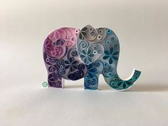 This is the only elephant that can jump on Earth . Free Quilling Patterns, Paper Quilling Designs, Quilling Paper Craft, Paper Crafts, Quilling Ideas, Elephant Silhouette, Work Gifts, Elephant Pattern, Gift Store