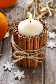 Risultati immagini per addobbi natalizi con stecche di cannella