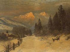 Anders Andersen-Lundby (1840-1923), Winter Landscape, 19th C