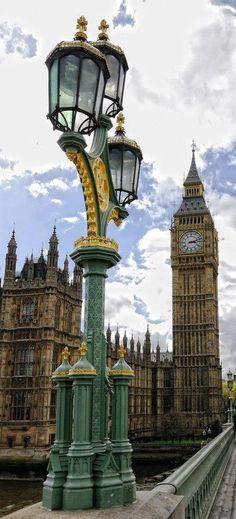 Big Ben, seen from Westminster bridge, London, England