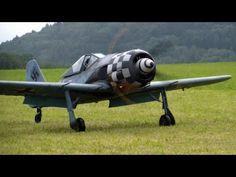 Focke Wulf FW190 WWII RC SCALE MODEL AIRPLANE FANTASTIC SOUND