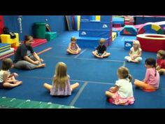 Kids move and learn and grow with this 50 minutes well rounded yoga for kids routine called GroovyKids yoga created by Greville Henwood. Gymnastics Warm Ups, Toddler Gymnastics, Gymnastics Levels, Gymnastics Stretches, Preschool Gymnastics, Tumbling Gymnastics, Gymnastics For Beginners, Gymnastics Lessons, Gymnastics Coaching