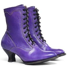 The Eleanor Purple Leather Womens Granny Boots Leather Womens Granny Boots  are a lovely leather wedding 953022c3b541
