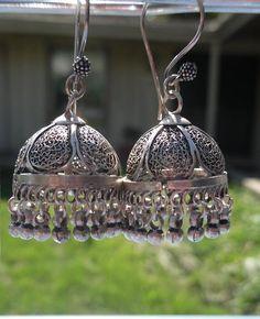 Silver hoop jhumka <3