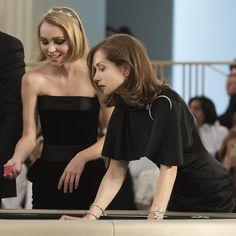 @lilyrose_depp & Isabelle Huppert #ChanelHauteCouture #ChanelCerclePrivé #pfw