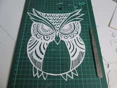 Patterned Owl - Handmade Original Paper-cut by PaperScribbles on Etsy https://www.etsy.com/listing/198159682/patterned-owl-handmade-original-paper