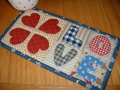 Love Hearts Mug Rug - country, cosy and just perfect for the month of February.