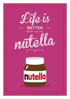 Nutella Retro inspirierend. Zitat Giclee von ShufflePrints auf Etsy