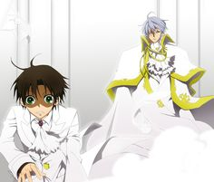 Teito x ayanami  07 ghost xD that face the uke made when he realized the seme is behind him ~