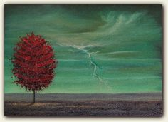 ORIGINAL Flower Tree Oil Painting Contemporary Abstract by BingArt, $22.95