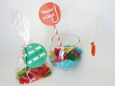 """""""You Are A Catch"""" free printable Valentines! Simply print and pair with gummy fish or worms, or even gold fish crackers. www.skiptomylou.org #freeprintable #valentines #valentinesday"""