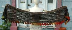 Crochet Tutorials, Crochet Ideas, Crochet Projects, Crochet Scarves, Crochet Shawl, Free Crochet, Shawl Patterns, Knitting Patterns, Crochet Patterns